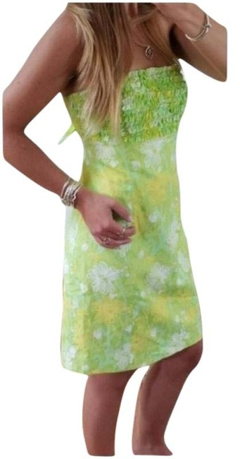 Item - Green Yellow Franco Short Casual Dress Size 6 (S)