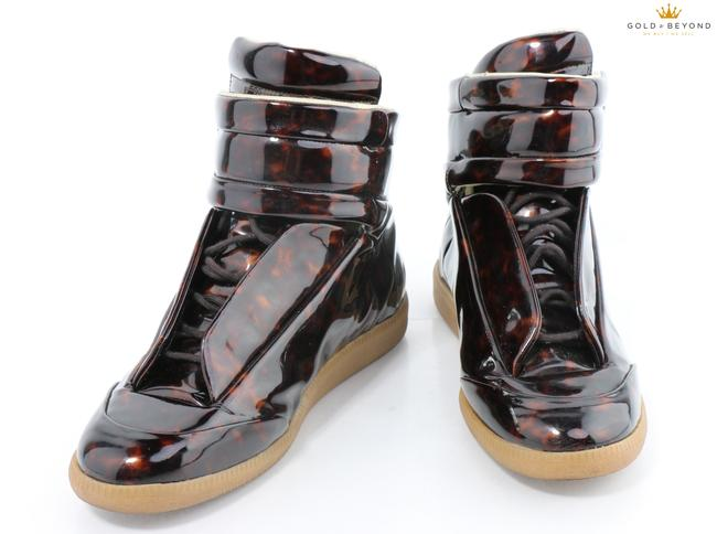 Item - Brown Tortoise Future Tortoise-patent High-top Sneaker Shoes