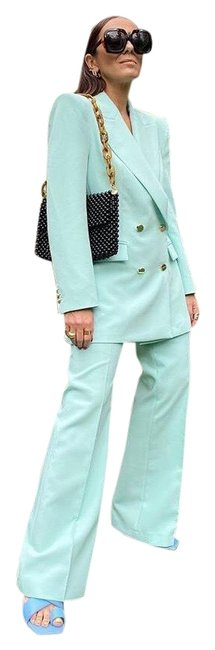 Item - Swimming Pool Green Woman Double Breasted Buttoned Blazer Size 0 (XS)