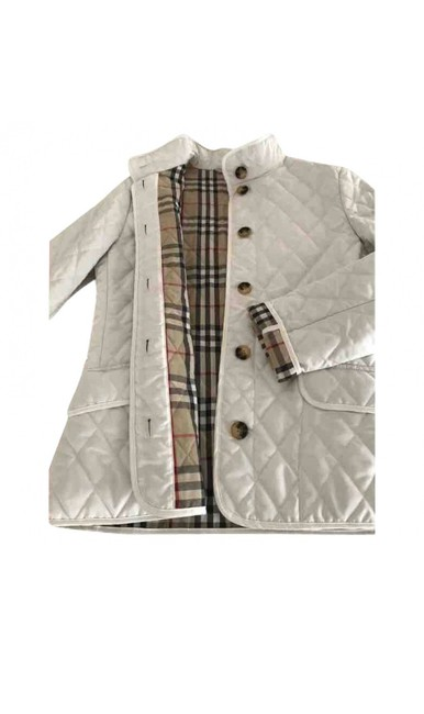 Item - White Quilted Jacket Coat Size 4 (S)