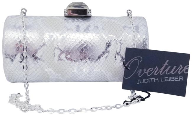 Item - Chain Bag Silver White Snakeskin Leather Clutch