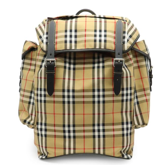 Item - Vintage Check Ranger Medium Rucksack 4077522 Beige / Black Cotton / Leather Backpack
