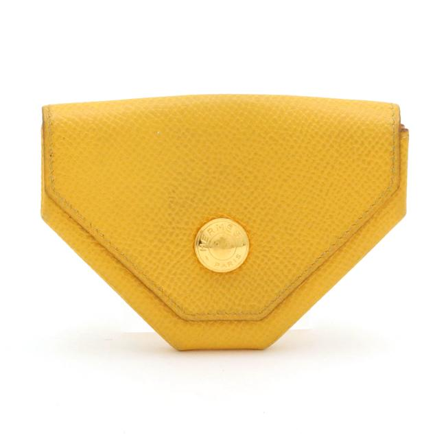 Item - Yellow Coin Purse Togo □a Engraved Wallet
