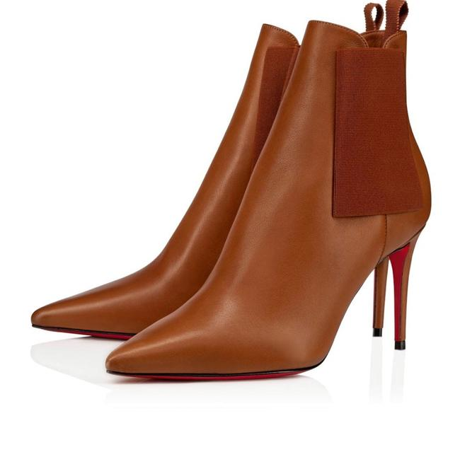 Christian Louboutin Brown Carnababy 85mm Cuoio Classic Stiletto Boots/Booties Size EU 39 (Approx. US 9) Regular (M, B) Christian Louboutin Brown Carnababy 85mm Cuoio Classic Stiletto Boots/Booties Size EU 39 (Approx. US 9) Regular (M, B) Image 1