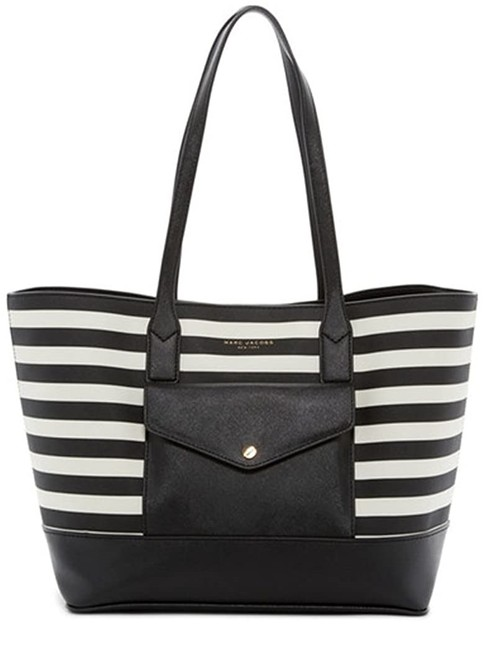 Item - Zebra Saffiano Black/White Stripe Leather Tote