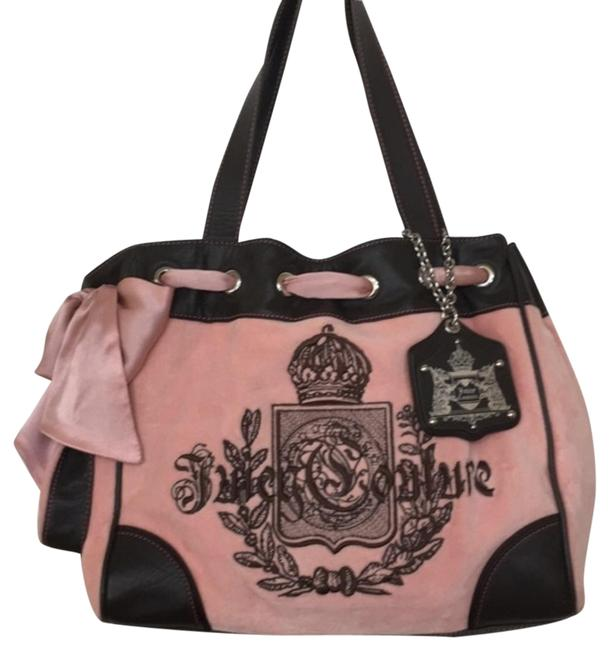 Item - Daydreamer Purse Pink & Brown Velour Tote