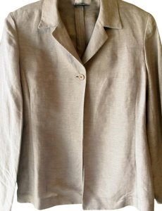 Emanuel Ungaro Linen Silk Light Single Button Work Pad Lavender Blazer