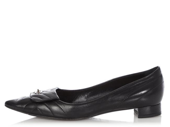 Item - Black Quilted Leather Cc Turnlock Flats Size EU 36.5 (Approx. US 6.5) Regular (M, B)