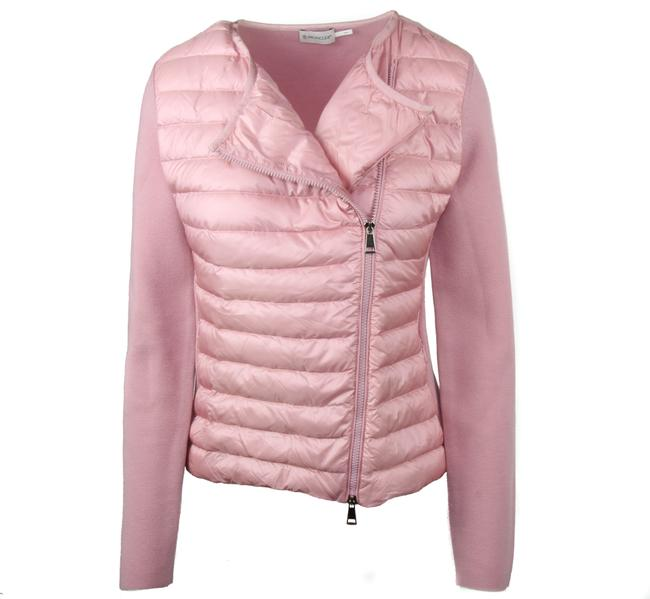 Item - Pink L New Women's Quilted Down and Knit Cardigan Sz. Vest Size 12 (L)