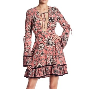 For Love & Lemons Coachella Bohemian Burlesque Deepv Plungingneck Dress