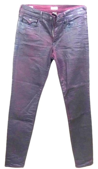 Item - Burgundy Coated Halle Mid Rise Super Midrise Skinny Jeans Size 28 (4, S)