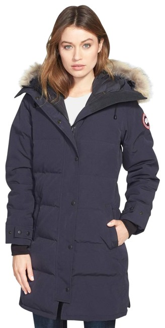 Canada Goose Blue Shelburne Coyote Fur Down Parka Women's Navy Coat Size 16 (XL, Plus 0x) Canada Goose Blue Shelburne Coyote Fur Down Parka Women's Navy Coat Size 16 (XL, Plus 0x) Image 1