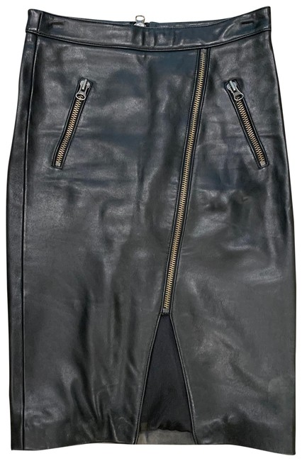 Item - Black Leather Skirt Size 0 (XS, 25)