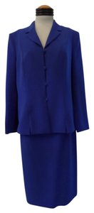 Le Suit Ladies LE SUIT Royal Blue 2pc BLAZER JACKET SKIRT SUIT