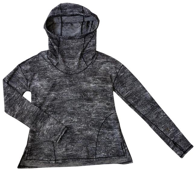 Item - Black and White Hoodie Activewear Top Size 6 (S)