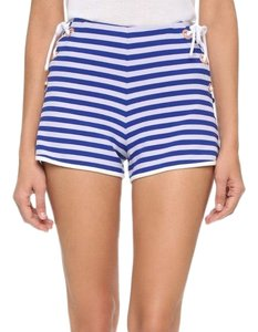 Clover Canyon Dress Shorts Blue and White