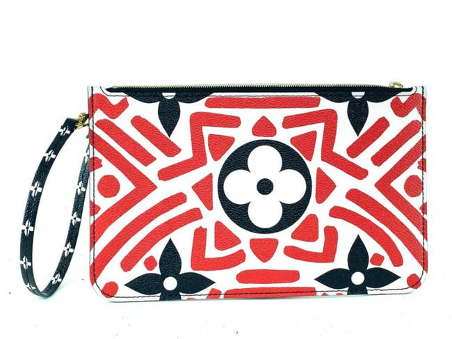 Item - Neverfull Pochette Crafty Gm Or Mm Tribal Limited African 860307 Red Coated Canvas Wristlet