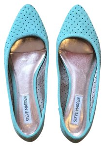 Steve Madden Suede Pointy Toe Turquoise Flats