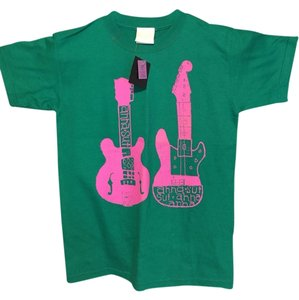 Anna Sui Limited Edition Guitars New York City Nwt T Shirt green