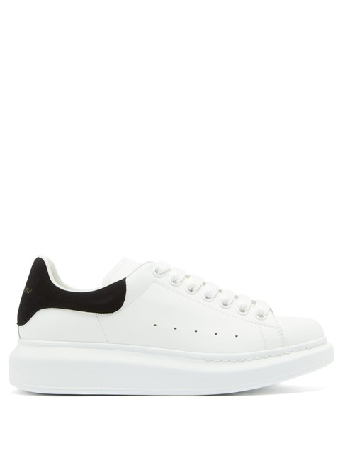 Item - White/Black Mf Raised-sole Leather Trainers Sneakers Size EU 40 (Approx. US 10) Regular (M, B)