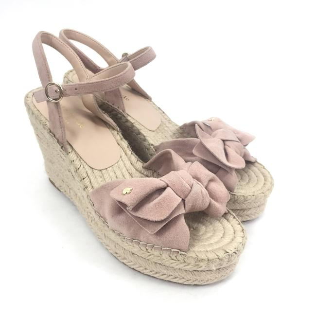 Item - Pink Fanni Bow Wedge Sandals Size US 7 Regular (M, B)