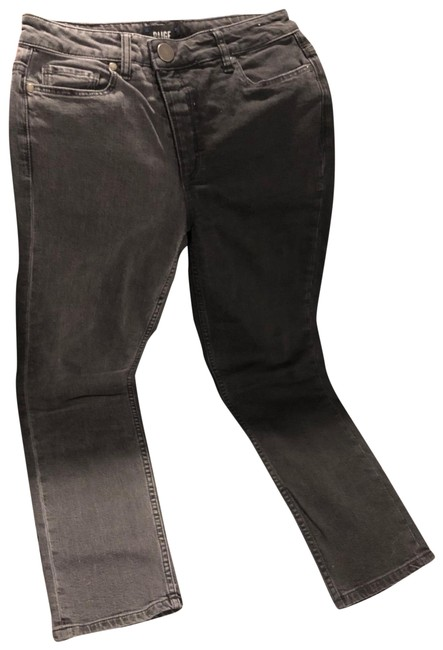 Item - Black and Gray Medium Wash Hoxton Straight Ankle Capri/Cropped Jeans Size 4 (S, 27)
