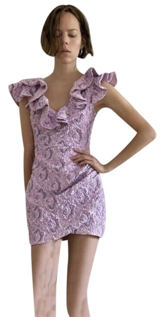 Item - Pink Limited Edition Ruffled Short Cocktail Dress Size 4 (S)