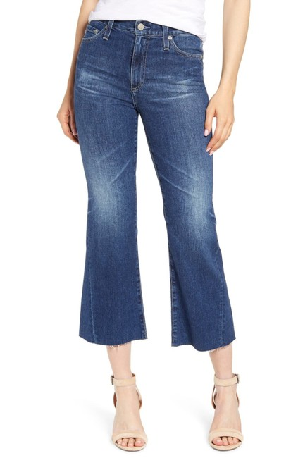 Item - 11 Years Streaming Distressed Quinne High Rise Crop Flare Capri/Cropped Jeans Size 26 (2, XS)