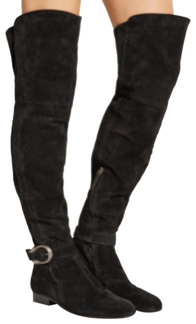 Item - Black Over The Knee Suede Boots/Booties Size US 9 Regular (M, B)