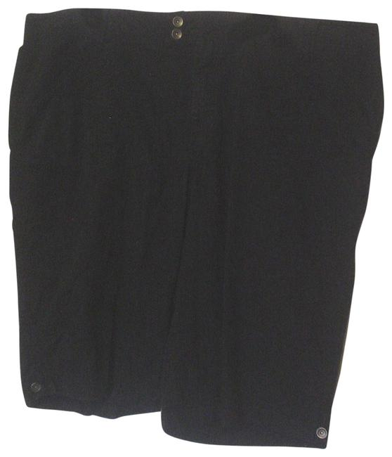 Venezia Black Denim Peddle Pushers Front Button Close Cropped Pants Capris Size 28 (Plus 3x) Venezia Black Denim Peddle Pushers Front Button Close Cropped Pants Capris Size 28 (Plus 3x) Image 1