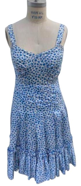 Item - Blue and White Rare Cotton Summer Long Casual Maxi Dress Size 6 (S)
