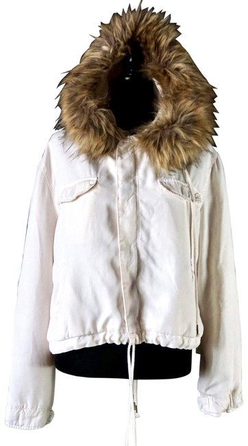 Item - White Weller Faux Fur Hooded New Flawed Jacket Size 6 (S)