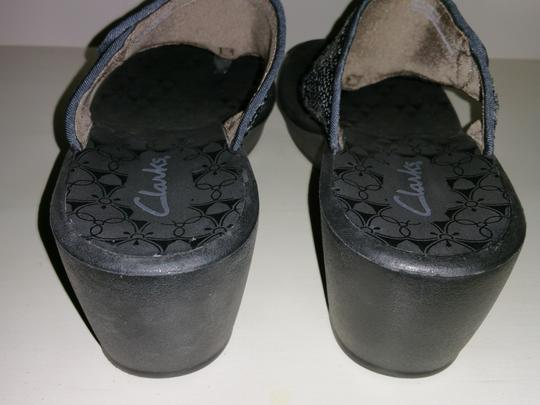 Clarks Black with Sequins Wedges