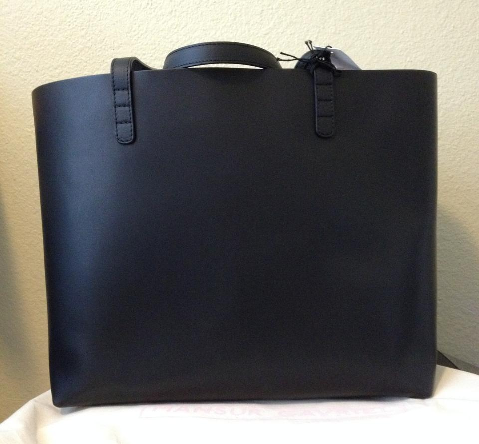 c47d69dd3a72 Mansur Gavriel Royal Interior and Matching Pouch Ss15 Black Leather Tote -  Tradesy