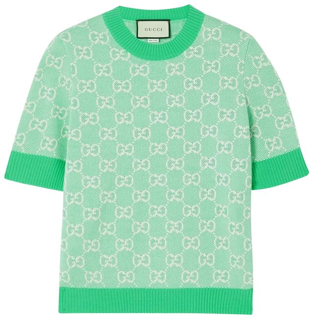 Item - Intarsia Wool and Cotton-blend Sweater Tee Shirt Size 2 (XS)