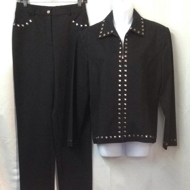 St. John St. John Sport Stretch Black Pant Suit 4