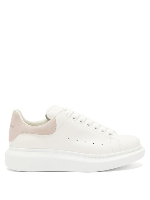 Item - White/Lt. Pink Mf Raised-sole Low-top Leather Trainers Sneakers Size EU 40.5 (Approx. US 10.5) Regular (M, B)