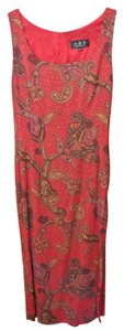 A.B.S. by Allen Schwartz Print Silk Maxi A.b.s. Dress