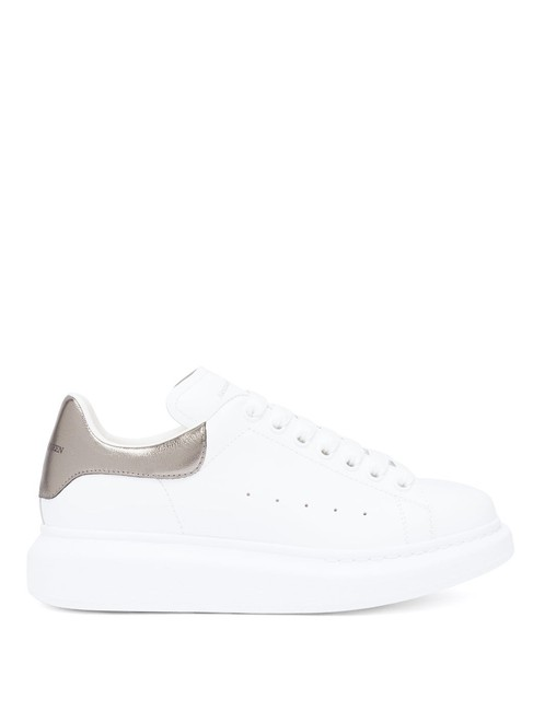 Item - White/Silver Mf Raised-sole Low-top Leather Trainers Sneakers Size EU 37.5 (Approx. US 7.5) Regular (M, B)