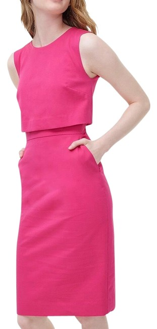Item - Pink Sleeveless Going Places Sheath In Bi-stretch Cotton Soft Fushcia Mid-length Work/Office Dress Size 8 (M)