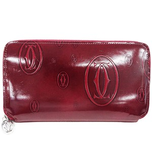 Cartier Cartier Happy Birthday Long Wallet Round Patent Leather Enamel Ladies L3000721