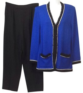 St. John St. John Collection Royal Blue Knit Pant Suit 8