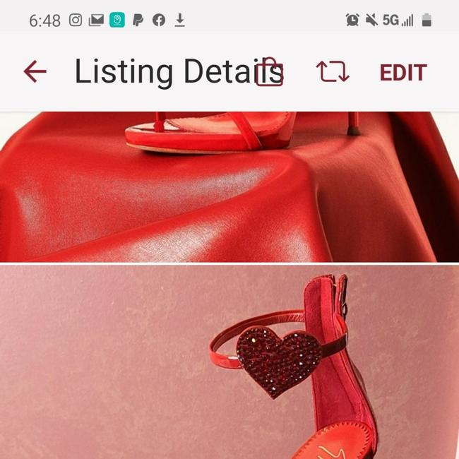 Item - Red Harmony Hearts Formal Shoes Size EU 39 (Approx. US 9) Regular (M, B)