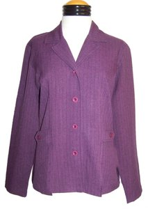 Sag Harbor Ladies SAG HARBOR Purple Pinstriped 2pc BLAZER JACKET PANT SUIT