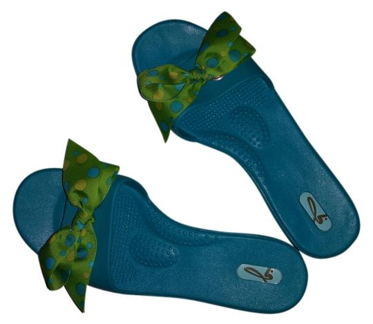 Preload https://item1.tradesy.com/images/terquoise-and-lime-sandals-size-us-8-regular-m-b-2783740-0-0.jpg?width=440&height=440