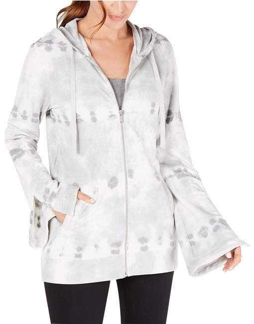 Item - Grey Whisper Tie-dyed Bell Sleeve Full Zip Activewear Outerwear Size 10 (M)