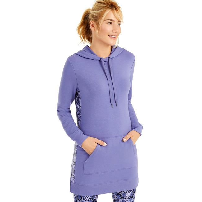Item - Luxe Iris Printed-panel Long Pullover Activewear Outerwear Size 4 (S)