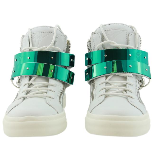 Item - White New Gz Design Genuine Leather & Ski Buckle Strap High-top Sneakers Size EU 37 (Approx. US 7) Regular (M, B)