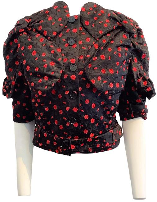 Item - Black / Red Embroidered Jacket Size 10 (M)