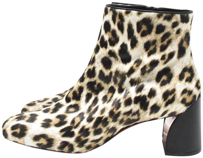 Item - Snow Leopard Turela Dyed Calf Hair Printed Ankle Boots/Booties Size EU 38 (Approx. US 8) Regular (M, B)